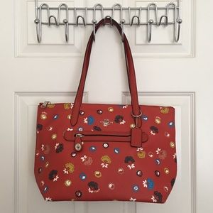 Coach Red Floral Taylor Tote